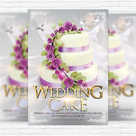 cake flyer template free wedding cake premium flyer template cover
