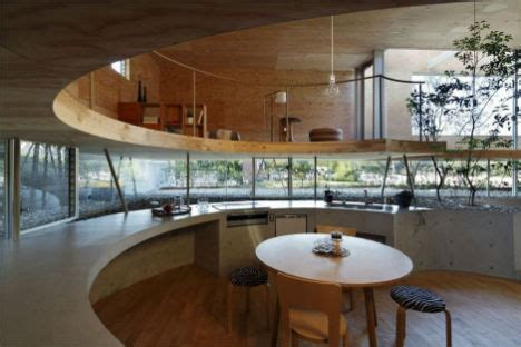 Circle Interior by Pit House Provides Privacy With Elevated Design