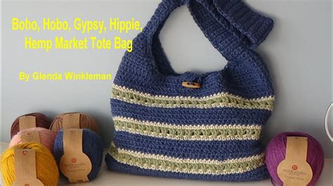 hippie tote bag pattern boho hobo gypsy hippie hemp market tote bag free