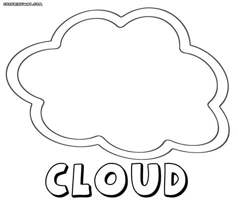 cloud coloring page cloud coloring pages coloring pages to and print