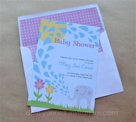 free baby shower invitations templates pdf printable elephant baby shower invitations templates