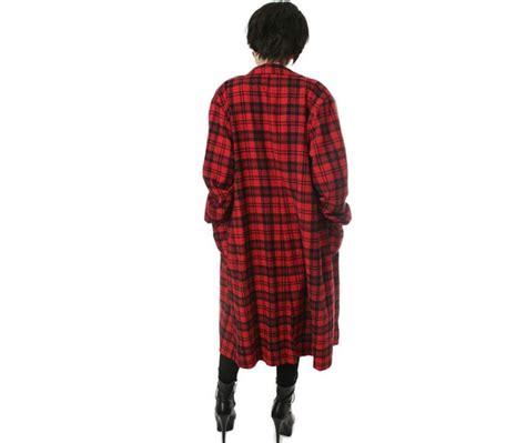 rock unisex flannel check plaid tartan slouchy shirt