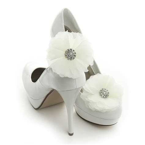 wholesale ivory tulle and bridal shoe clip