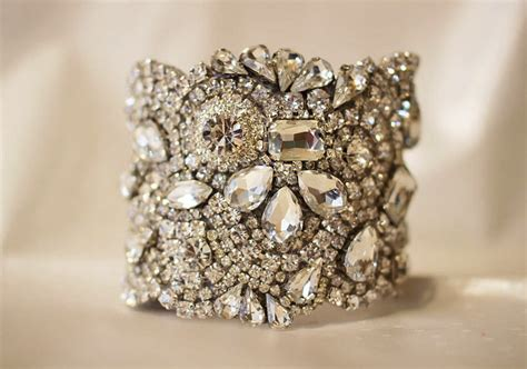 Handmade Wedding Accessories - bridal cuff bracelet handmade wedding accessories 11