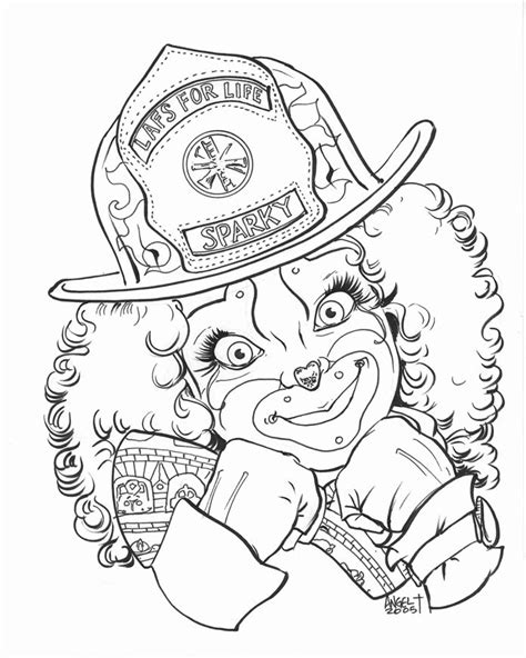 sparky the fire dog pages coloring pages
