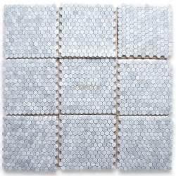 marble mosaic tile carrara marble tile italian white carrera 1 inch hexagon