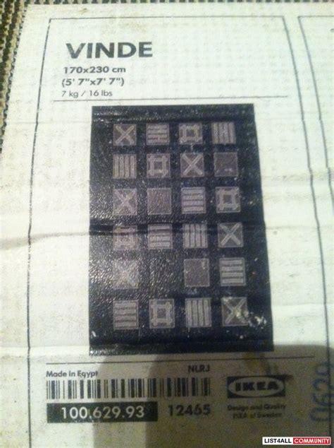 ikea area rugs 5x7 ikea vinde 5x7 black grey area rug shopzaholic list4all