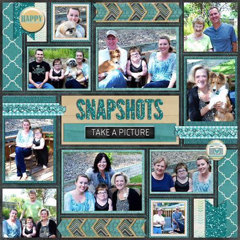 Multi Photo Scrapbook Layouts by Snapshots Take A Picture Mosaic Style 10 Photo Layout