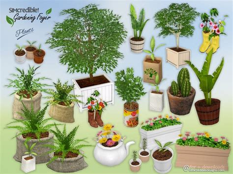 empire sims 3 3 small potted plants by lisen801 simcredible s gardening foyer plants