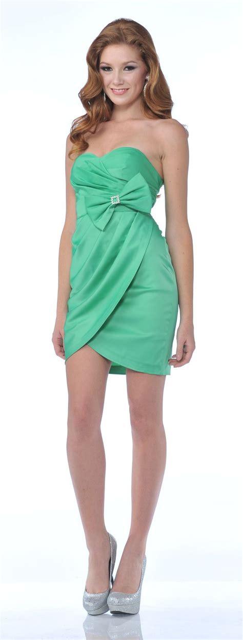 clearance green cocktail dress tulip skirt