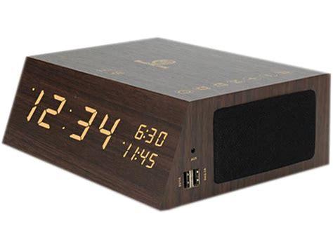 bluetooth alarm clock radio speaker  gogroove wood