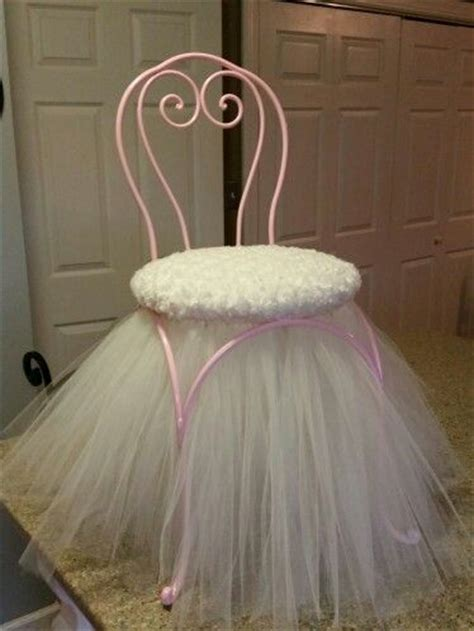 vanity stool with skirt princess stool chair with tulle skirt shabby chic