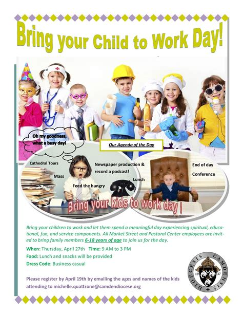 Bring A To Your Day by Diocese Of Camden Diocesan Bring Your Child To Work Day