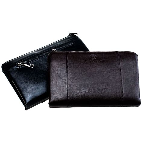 Alat Sulap Dompet Api Wallet dompet kulit pria luxury premium leather wallet black