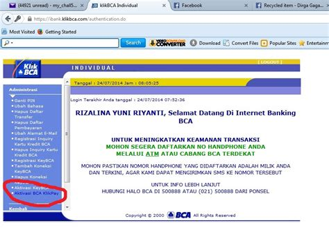 bca email cara aktivasi bca klikpay saran2 com