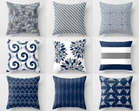 throw pillow cover pillow covers navy white grey accent