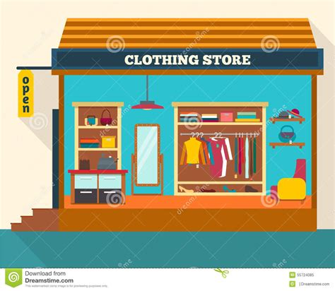 store layout vector clothing store man and woman clothes shop stock vector