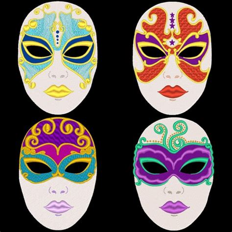 design for mask fantasy carnival masks 36 designs machine embroidery