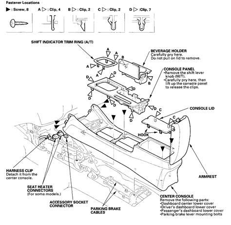 remove center console  honda accord