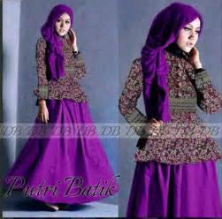 Gambar baju batik remaja modern putri p887