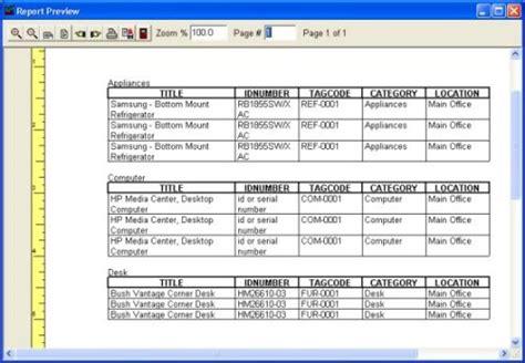 Asset Management Report Template Print Asset Reports