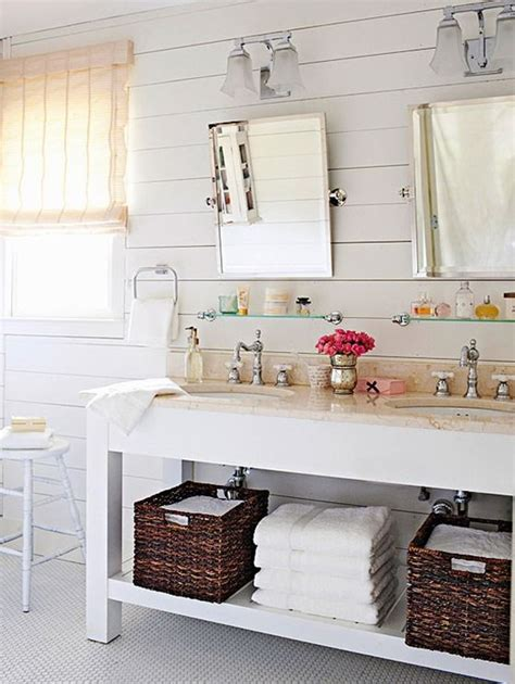 open shelving bathroom vanity 5 spaces for horizontal plank walls planked walls open