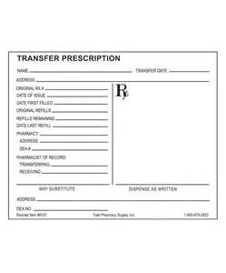 prescription template prescription blank transfer rx horizontal layout