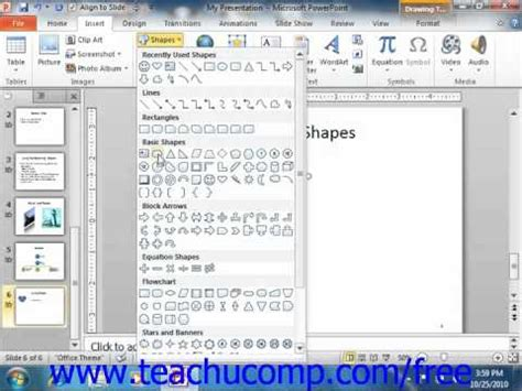 Powerpoint 2010 Tutorial Inserting Shapes Powerpoint 2010 Tutorial