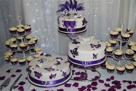 You have to see Purple Butterfly Wedding Cake on Craftsy!