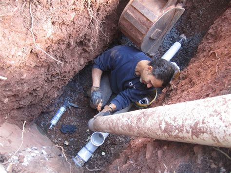 nj underground plumbing excavation line inspection