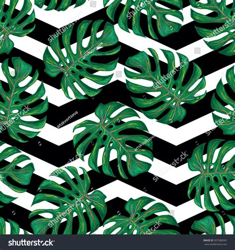 perfect pattern password seamless tropical pattern monstera leaves vector stock