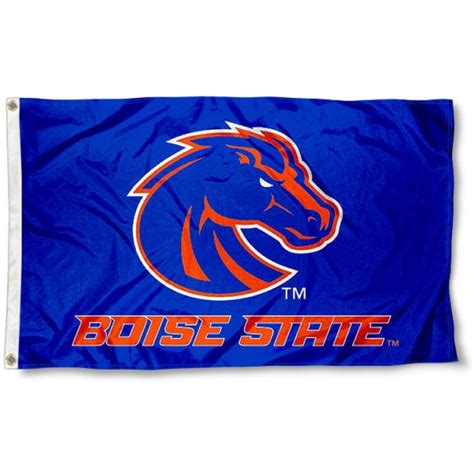 boise state colors boise state broncos blue flag and boise state broncos blue