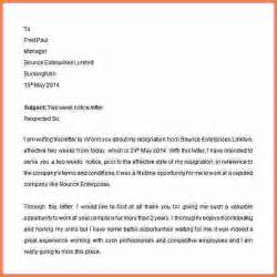 Two Weeks Notice Sle by 2 Weeks Notice Letter Exles Sales Report Template