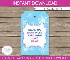 thank you tag template frozen favor tags template thank you tags editable
