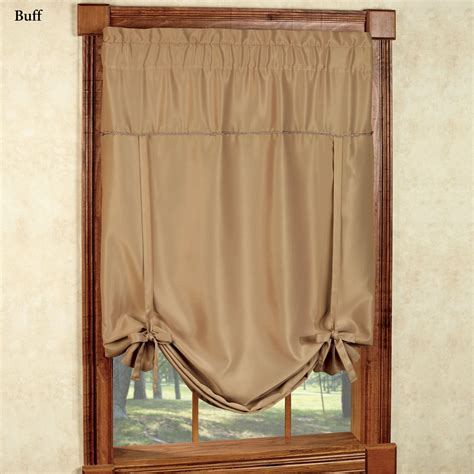 tie up shades curtains 19 blockaide wrap around curtain rod absolute zero