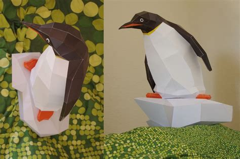 Papercraft Penguin - papercraft penguin diy kit pdf sculpture papercraft