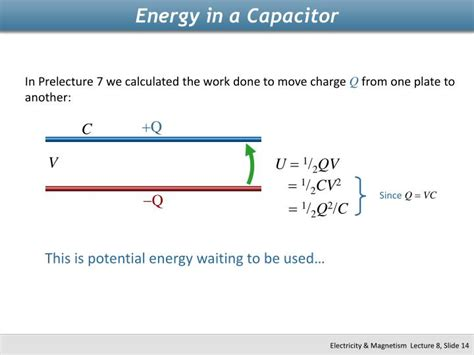 capacitor potential energy ppt physics 2112 unit 8 capacitors powerpoint presentation id 2265746
