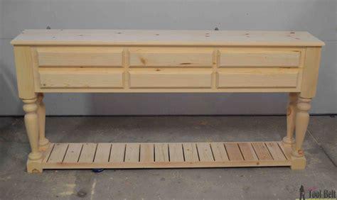sofa table plans free free wood sofa table plans scifihits