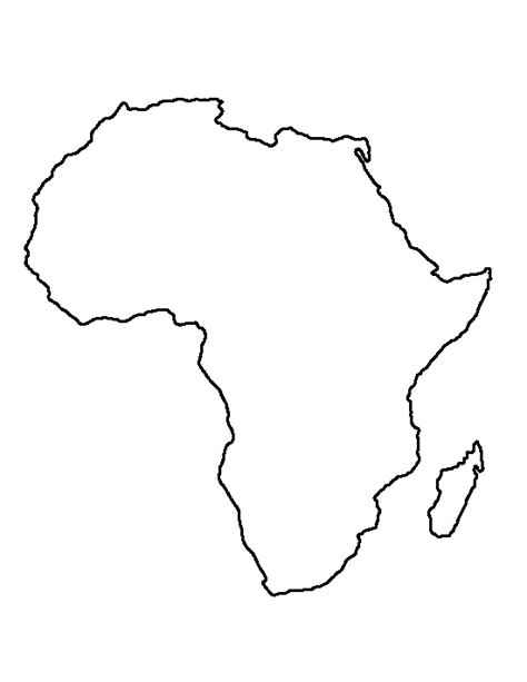 printable continent shapes africa pattern use the printable outline for crafts