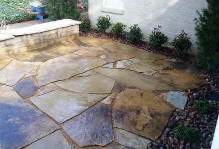 flat rock patio blocks modern patio outdoor