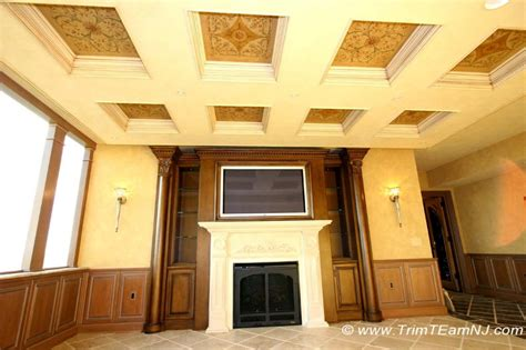 Coffered Ceiling Beams Coffered Ceilings And Beams Trim Team Nj Woodwork