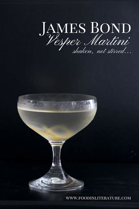 vesper martini quote james bond vesper martini recipe in literature