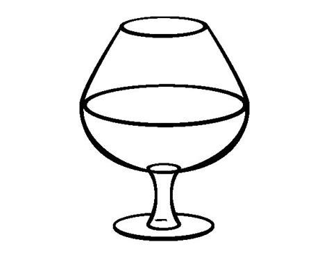 bicchieri da colorare disegno di bicchiere di vino da colorare acolore