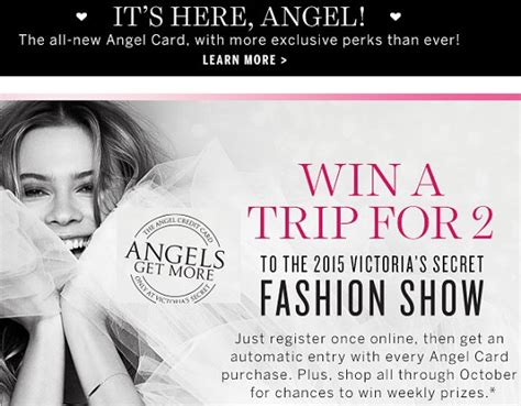 Victoria Secret Sweepstakes - victoria s secret angel card sweepstakes sweeps maniac