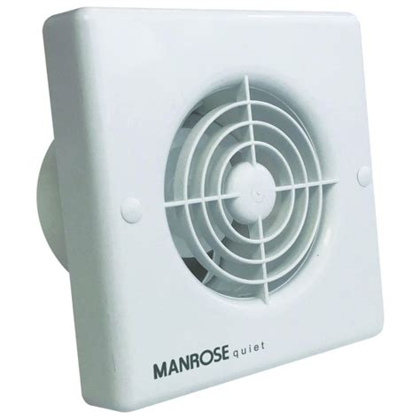 manrose qf100t quiet timer extractor fan for bathrooms and
