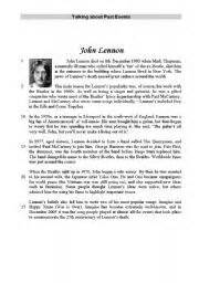 john lennon biography worksheet john lennon worksheet by dicodek