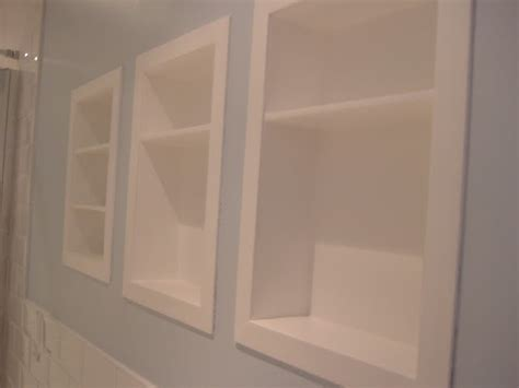 bathroom built in wall shelves built in bathroom shelves bathroom remodel pinterest