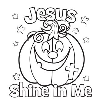 religious pumpkin coloring pages jesus shine in me coloring picture for halloween