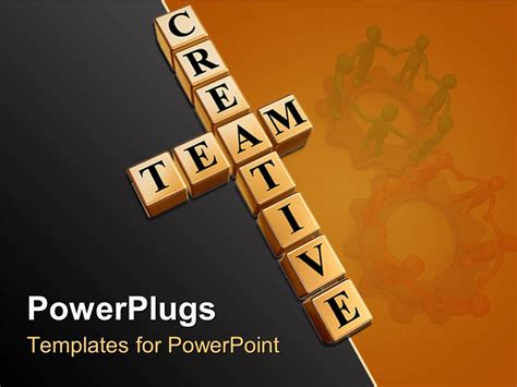 powerpoint template teamwork theme with creative team