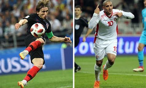 football en amical croatietunisie le 11 juin 2019